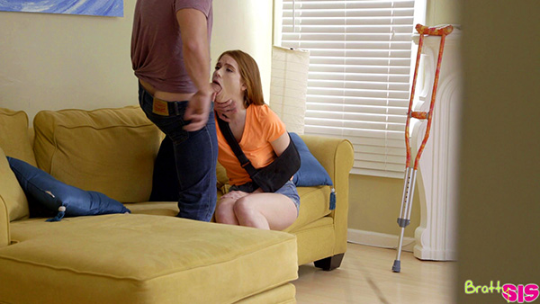 [BrattySis] Pepper Hart – Injured Redhead Gets Creampied By Her Stepbrother [1080p] (Incest Roleplay)