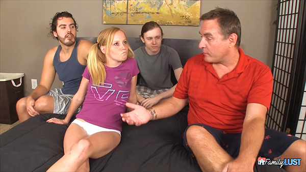 [FamilyLust] Alyssa Hart – Gangbang Intervention [1080p]