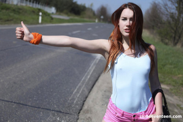 [ClubSeventeen] Charli Red Young Hitchhiker With Big Ass Banged [1080p]