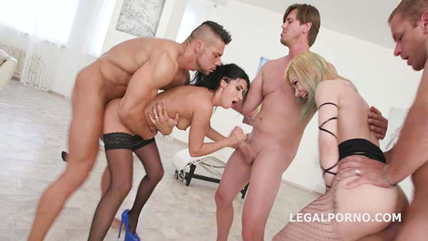 [LegalPorno] Double Addicted With Double Pussy Kira Roller & Nicole Black Anal Battle – GIO686 [720p]